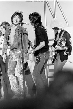 1973 The Rolling Stones – Perth concert images by Ric Chan – Surfing Down South Rock N Roll, Classic Rock And Roll, George Harrison Young, Mick Jagger Rolling Stones, Rolling Stones Logo, Stone World, Thing 1, King Richard, Rock Groups