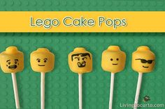 lego cakepops. can use marshmallows... somehow...