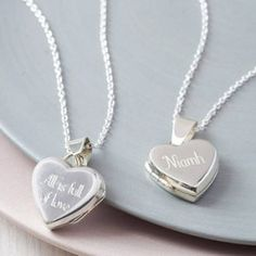 Personalised Sterling Silver Heart Locket Necklace