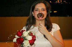 Pirulitos de chocolate branco ou ao leite. Casamentos.