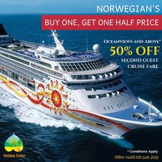 Get the best deals on Norwegian cruise packages only at Holiday Cellar. Book Your Cruise vacations with this Buy one, get one half price deal. Contact for more details- Call : 9915937647  email: info@holidaycellar.com #islands #beaches #norwegian #vacationpackages #europe #Bahamas #offer #NorwegianCruise #tourandtravel #holidaycellar #cruise #cruiselife #tourandpackage #travel #trip #cruiseaddict #oceanview #holiday #luxurytravel #travelling