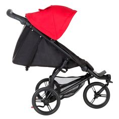 Mountain Buggy mini stroller side view with full recline (great for naps on the go)
