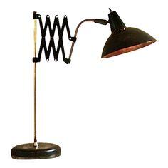 ORIGINAL BAUHAUS SCISSOR ARM LAMP   RE-ASSEMBLED   LIGHTING    $475