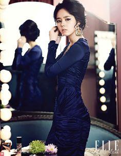 navy blue #dress x elegance :: Han Ga In