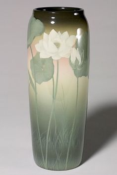 Rookwood Pottery, Cincinatti, Iris Glaze decorated vase by Kataro Shirayamadani, 1910.