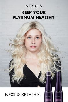 Nexxus Keraphix, keep your new platinum healthy. Platnium Blonde Hair, Dreadlock Hairstyles, Hairdos, Curly Hair Styles, Natural Hair Styles, Colored Hair Tips, Damaged Hair Repair, Hair Color And Cut, Pinterest Hair