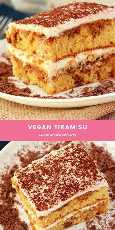 Vegan Dessert Recipes, Delicious Vegan Recipes, Delicious Desserts, Cake Recipes, Yummy Food, Yummy Eats, Vegetarian Recipes, Vegan Treats, Vegan Foods