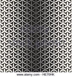 Halftone Gradient Mosaic Lattice. Vector Seamless Black And White ...