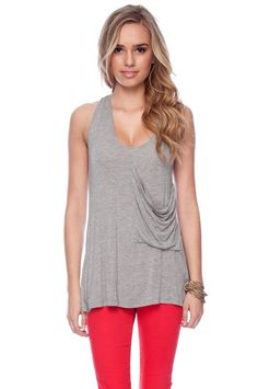 cute tank with crossed back
