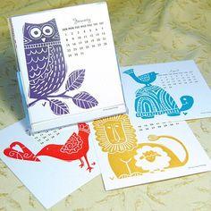 Eye Spy: 2012 Letterpress Calendars   Centsational Girl