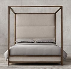 RH Upholstered Canopy Bed