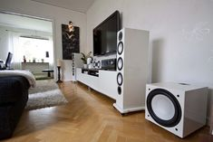 Monitor Audio Silver 10 speakers white finish.
