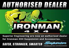 Superior Engineering are now an authorised dealer for Ironman 4X4 Suspension and Accessories. #4X4 #Ironman #Offroad