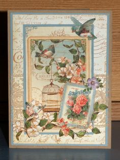 birthday card for my mother made with Graphic 45 Secret Garden