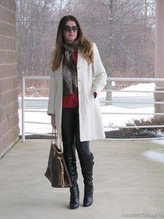 look do dia casaco branco