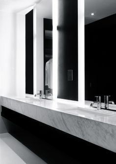 VW + BS Architecture | Crockford Suites Hotel I like the two tone aesthetic and happy to have just a little bit of marble. (I'm not a fan of marble on large surface area.