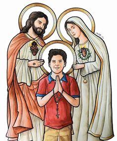 Catholic Art, Catholic Saints, Religious Art, Jesus Cartoon, Girl God, Joseph, Christ The King, Jesus Art, How He Loves Us
