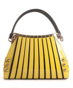 8ee97194991c Bravo Handbags Yellow Irina Leather Satchel