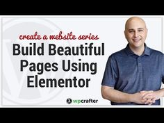 How To Design A Beautiful Homepage Using Elementor For WordPress - YouTube