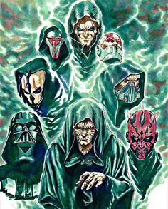 Sith lords by eras Star Wars Kotor 2, Darth Nihilus, Star Wars Sith, Star Wars Love, Star Wars Comics, Star Wars Images, Star Wars Poster, Star Wars Episodes, Cover Art