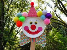 Diy Paper Plate Clown Puppet