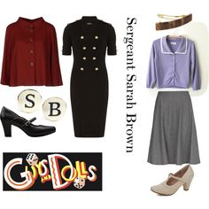 """Guys and Dolls - Sarah Brown"" by beetlescarab on Polyvore"