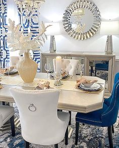Furniture Makeover, Furniture Decor, Thanksgiving, Dining Room Design, Inspired Homes, Dining Chairs, Dining Rooms, Living Room Decor, Interior Design