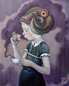 """""""Tea Time"""" Acrylic on canvas , 2014."""
