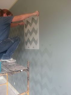 The Magic Brush, Inc.: Chevron wall ---- learn from our mistakes!!