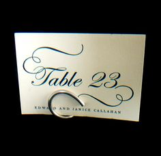 Wedding Table Number Holders, Modern Wedding Decorations, 9. $36.00, via Etsy.