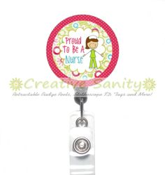 Nurse Retractable ID Badge Reel Nurses Care by CreativeSanity, $7.50