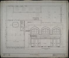 Second floor plan, Martin Street elevation