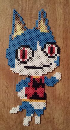 Rover - Animal Crossing perler beads by Joanne Schiavoni