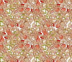 Italian pasta fabric by mzwonko on Spoonflower - custom fabric