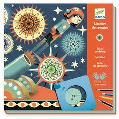 Lav fine spiraler på de flotte baggrunde. Læg papiret på metalpladen, læg spiral kanten på - den holder papiret på plads, da den er magnetisk. Tag et