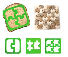 The puzzle sandwich cutter is a great way to make lunch more fun for kids (or adults). Sandwiches that double as puzzles are sure to be voted coolest lunch when kids (or coworkers) sit down to do the daily lunch compare. You could also use the puzzle sand Party Sandwiches, Finger Sandwiches, Food Cutter, Cookie Cutters, Puzzle Party, Sandwich Cutters, Brit, Fussy Eaters, Food Art