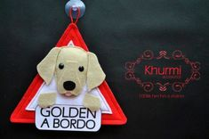 Golden a bordo Pug, Dachshund, Rottweiler, Shih Tzu, Beagle, Dog Ornaments, Christmas Ornaments, Jack Russell, Golden Retriever