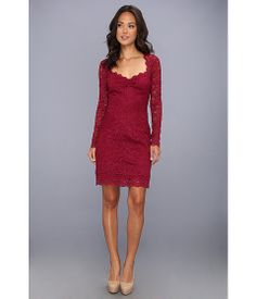 Nicole Miller Long Sleeve Eva Lace Dress Black Cherry - Zappos.com Free Shipping BOTH Ways