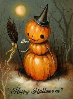 Pumpkin Face by Brandi Milne, via brandimilne.com