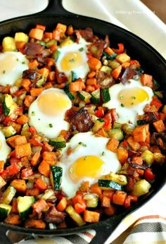 Sweet Potato Breakfast Skillet with Bacon Recipe - RecipeChart.com