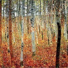 Forêt de hêtres de Gustav Klimt