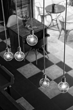kitchen lighting ideas - Vibrancy can be seen even in #blackandwhite.