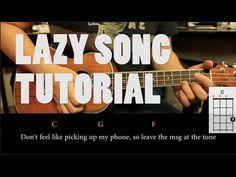 Bruno Mars - The Lazy Song UKULELE Tutorial ( Fácil ) - YouTube