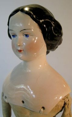 Jenny Lind Antique China Head Doll