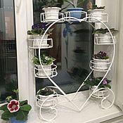 Кованые изделия Макаров и сыновья, Подставка для цветов на подоконник Сердце