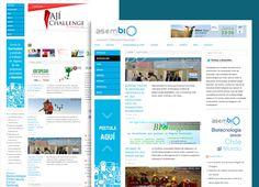 Diseño de Sitio web Asembio, mantención y comunicación del sitio.  Website Design Asembio , maintenance and communication of the site. www.asembio.cl