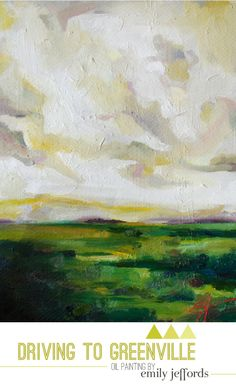 Driving to Greenville: Original Landscape Oil Painting by Emily Jeffords