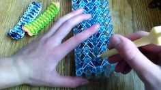 This design uses a five bar loom with adjustable peg positions.  *Zuzu* NEW Rainbow Loom Fantasmic Bracelet
