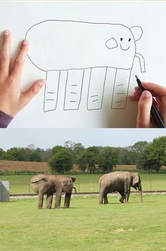 Kid Drawings Are Turned Into Hilarious And Realistic Masterpieces.