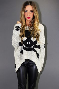 Oversized skull sweater...comfy